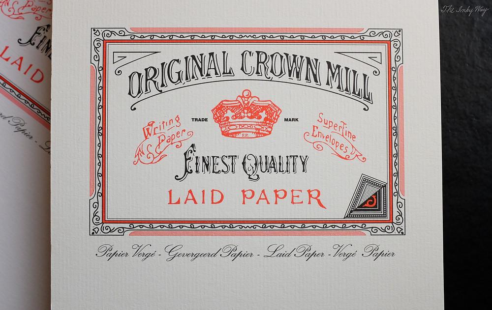 Original Crown Mill Laid Paper