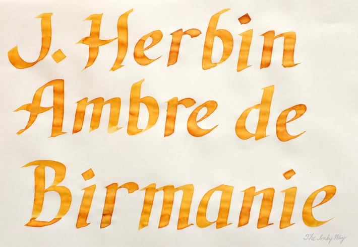 Review: J. Herbin Ambre de Birmanie