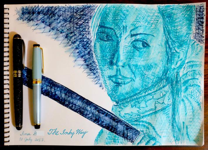 Sketch - Robert Oster Torquay and Robert Oster Blue Night