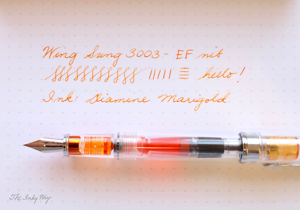Wing Sung 3003 writing sample