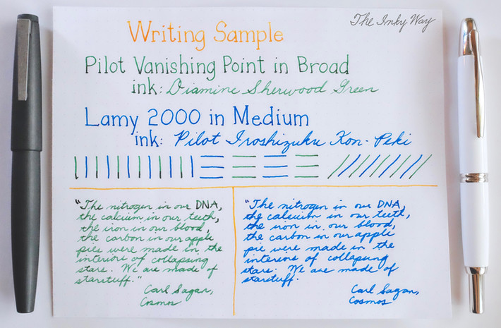 Showdown: Lamy 2000 vs. Pilot Vanishing Point