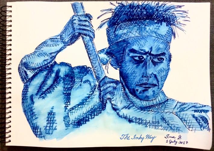 Sketches - Diamine Majestic Blue