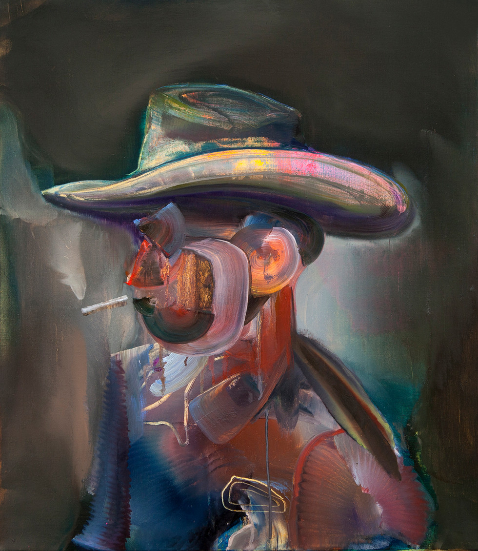 Hans, 80 x 70 cm, oil on linen, 2019