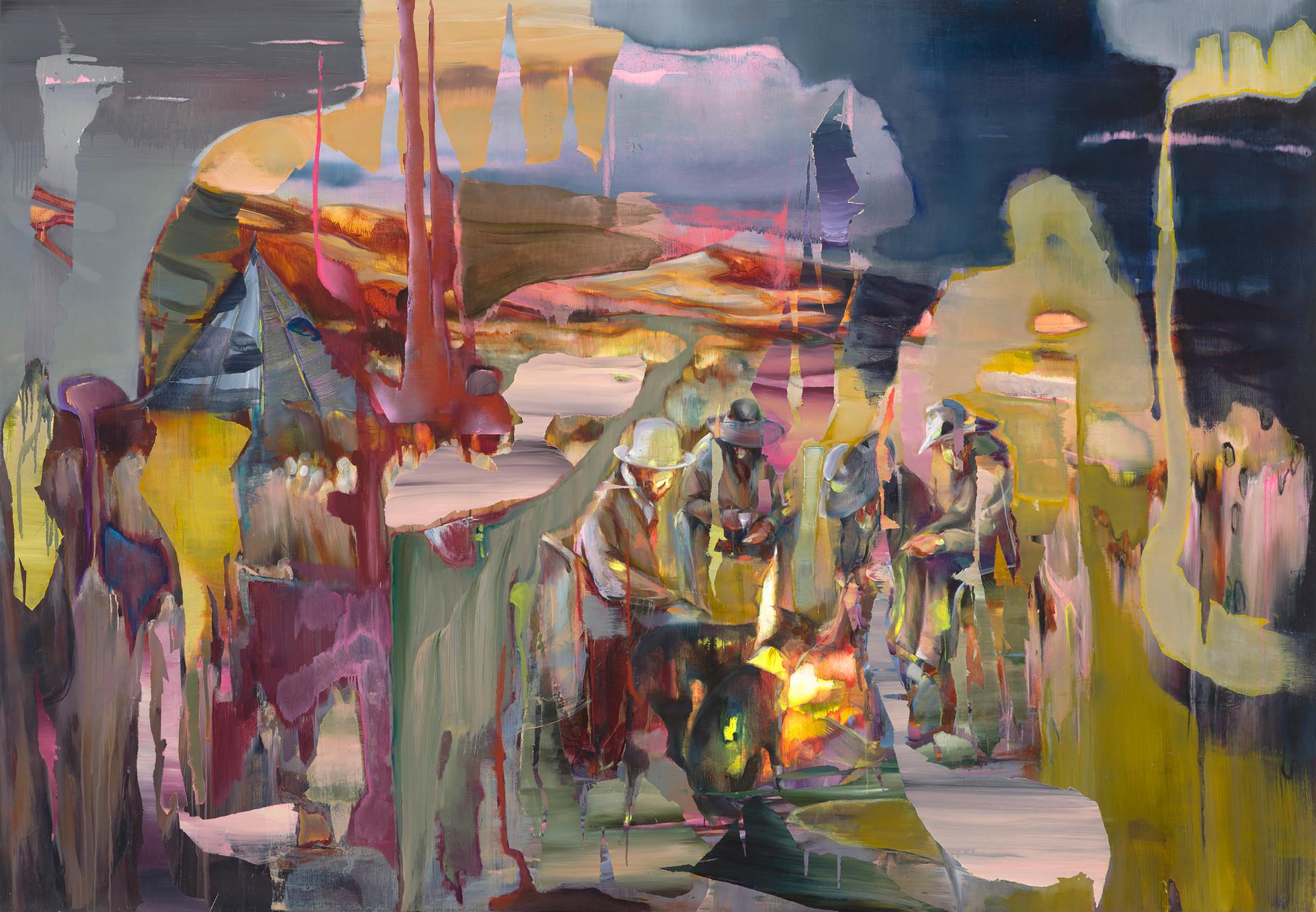 Dreamers, 180 x 240 cm, oil on linen, 2018