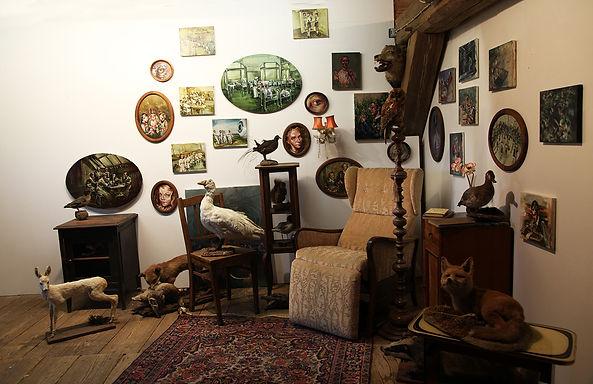 Justine Otto, Installation Wohnzimmer, 2