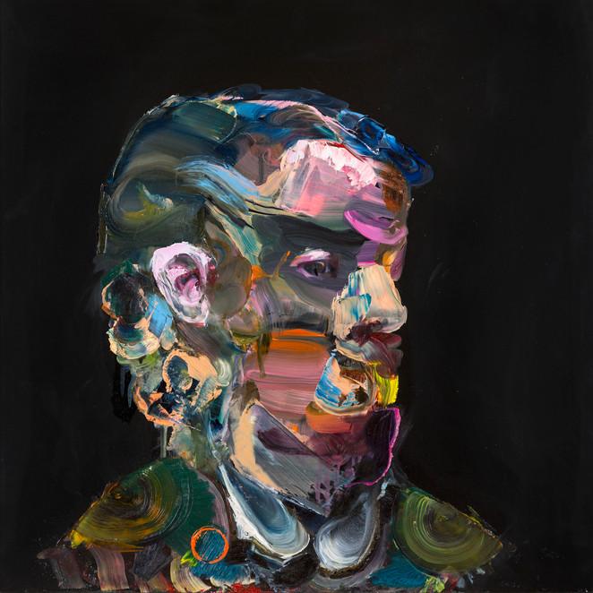 Kjell, 55 x 55 cm, oil on mdf, 2017