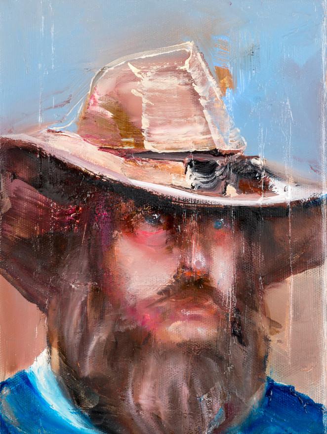 cowboy, 30 x 20 cm, oil on linen, 2016