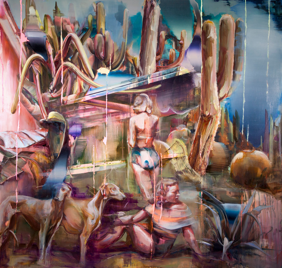 Hoax (sarasota), 220 x 200 cm, oil on linen, 2019