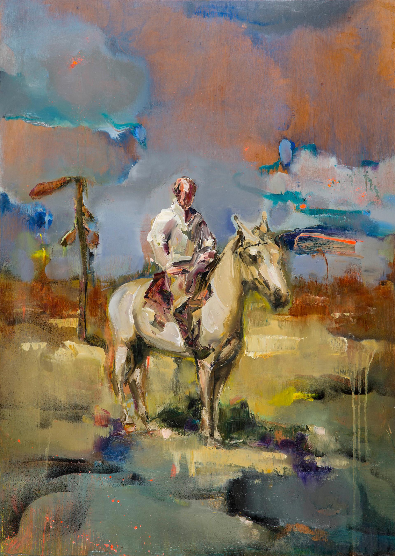 evening dreamer, 70 x 50 cm, oil on wood, 2017