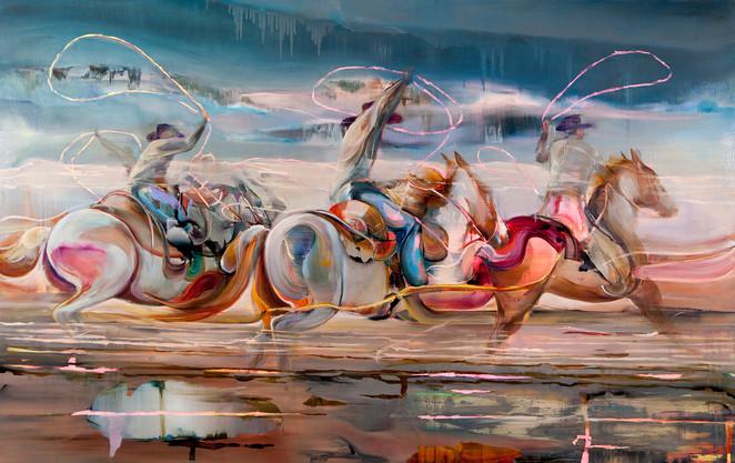 Tritec, 220 x 170 cm, oil on linen, 2019