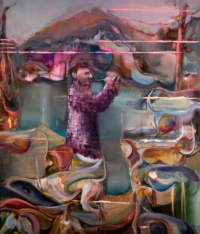 Gatherer, 150 x 130 cm, oil on linen, 2019