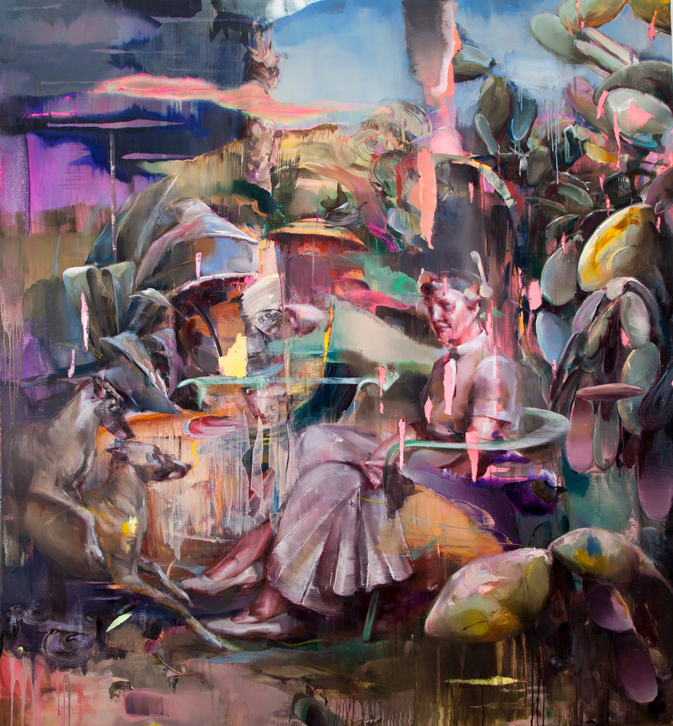 Hoax (invisible), 210 x 190 cm, oil on linen, 2018