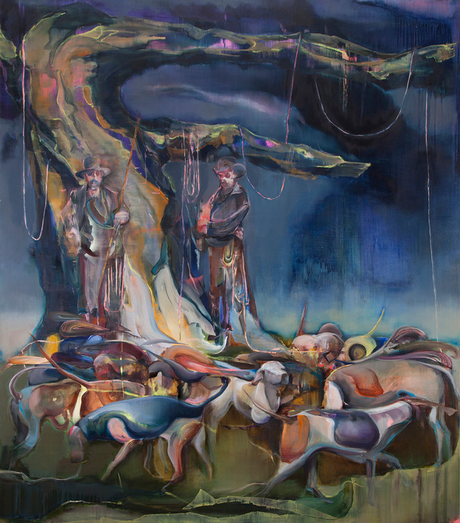 The eternal song, 210 x 180 cm, oil on linen, 2020