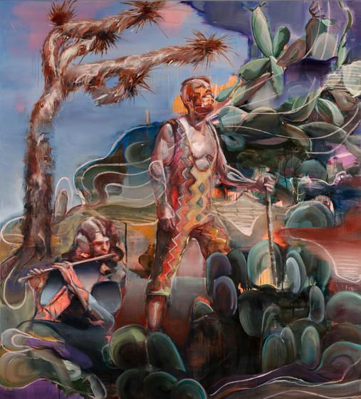 Grinters, 190 x 170 cm,  oil on linen, 2020