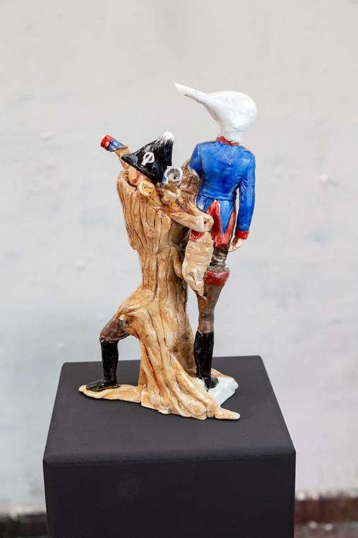 Officier grenadier company, porcelain, epoxy resin, 2018
