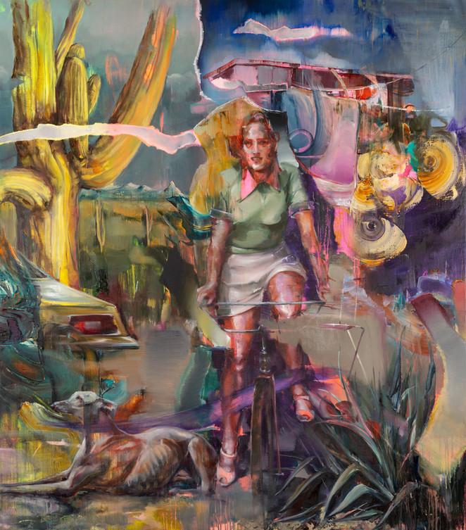 O.t. (hoax IV), 190 x 170 cm, oil on linen, 2018