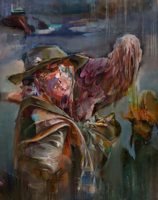 Falkner, 150 x 120 cm, oil on linen, 2017