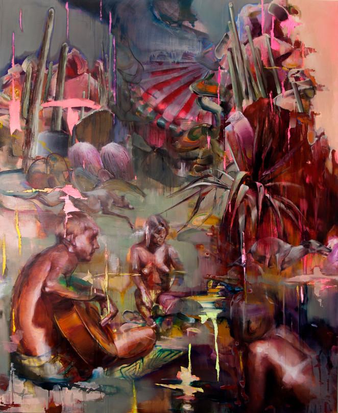 Heat , 220 x 170 cm , oil on vanvas, 20