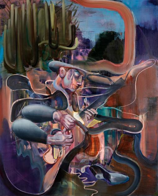 Multiple Player, 160 x 130 cm, oil on linen, 2020