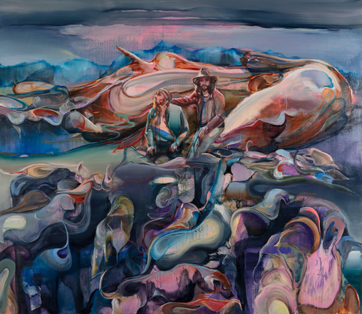 The path of the ancestors, 220 x 200 cm,  oil on linen, 2020