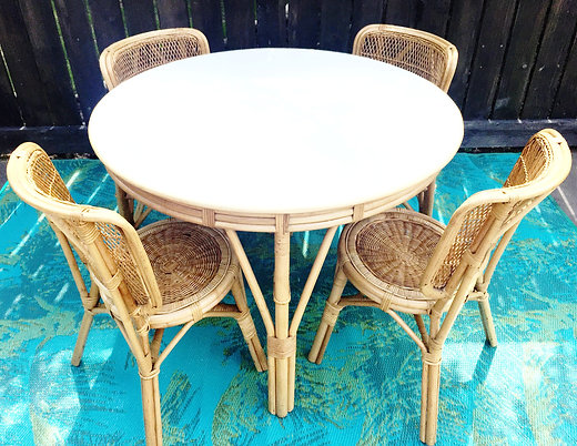 Wicker Round Table U0026 Chairs