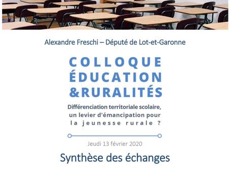 Synthèse des échanges colloque Éducation & Ruralités