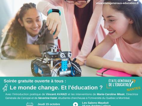 Les Etats Généraux de l'Education feront étape à Nantes !