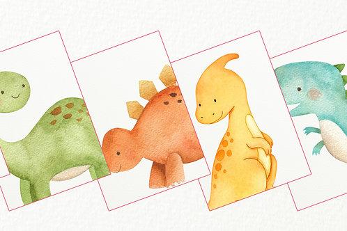 Dinosaur Nursery Prints