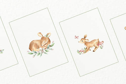 Baby Deer Nursery Prints