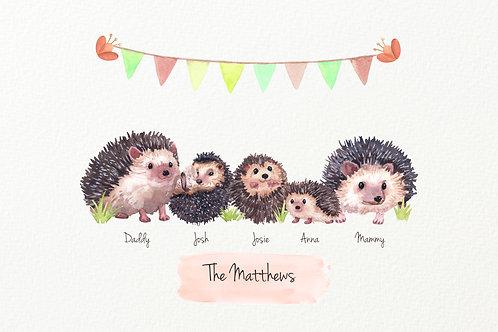 Hedgehog Family Design