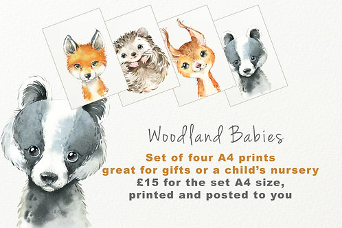 Woodland Babies Nursery Prints