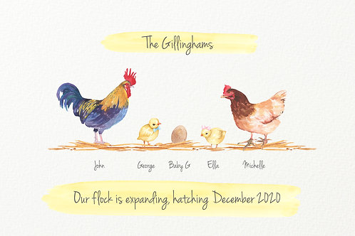 Chicken Baby Announcement
