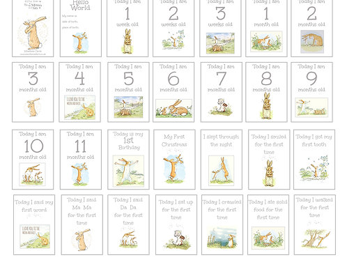 To The Moon and Back Milestone Cards