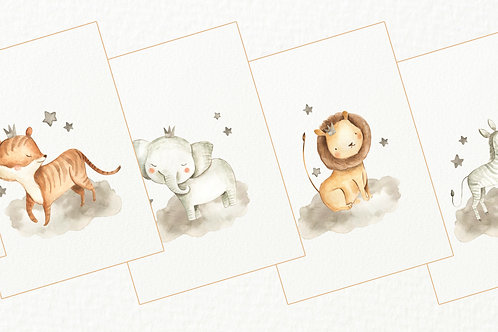 Jungle  Safari Nursery Prints