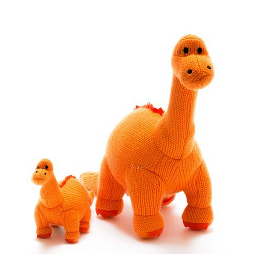 Large Diplodocus Knitted Dinosaur Toy