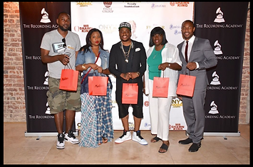 L to R: Carl Chery, Myisha Brooks, Raheem DeVaughn, Johnnie Walker & Tank