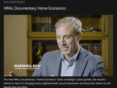 """Featured: WRAL Real Estate Documentary """"Home Economics"""""""