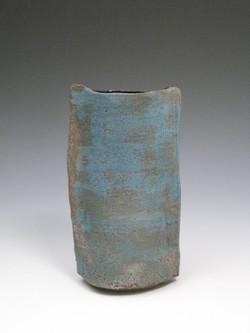 blue slab vase