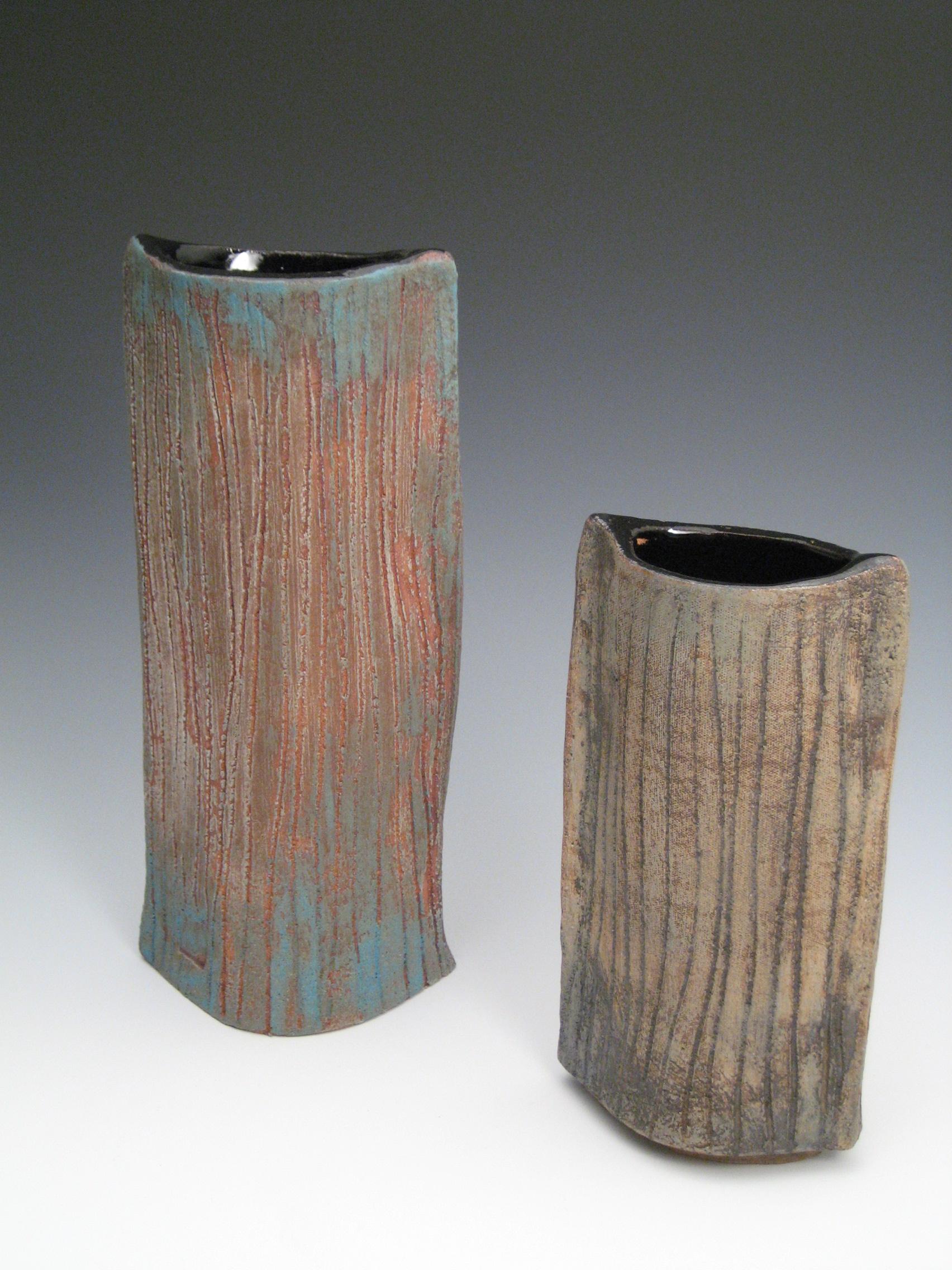 2 slab vases