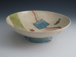 Blue Banner Bowl Clay