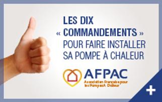 Conseils AFPAC pompe à chaleur