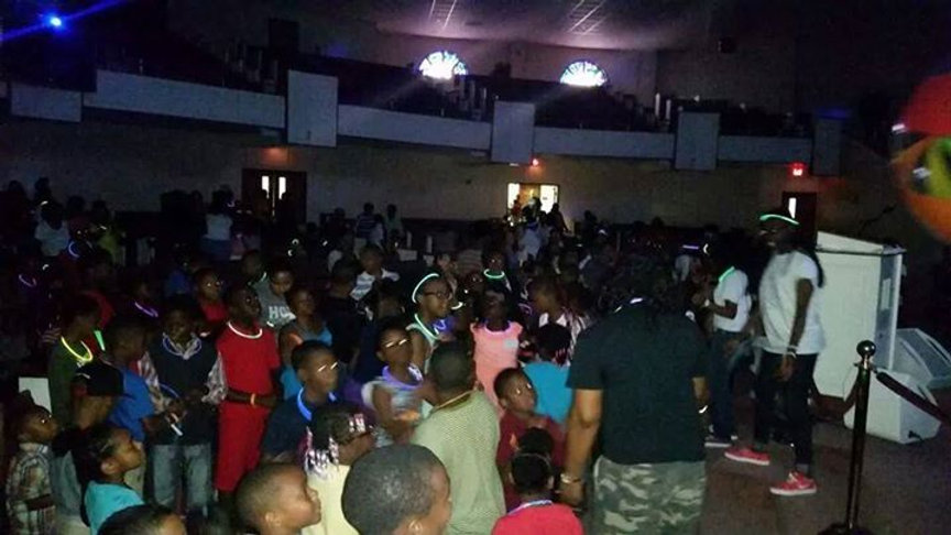 Beulah Grove Baptist Church back to school Glow party! #theexperience