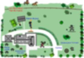 Plan de Masse du  Centre les Mésanges