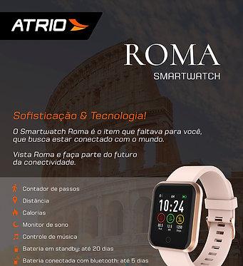 RELÓGIO SMARTWATCH ROMA ATRIO ANDROID/IOS ROSE