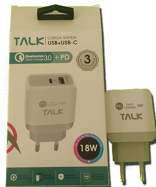 FONTE TURBO TALK 3.0 USB + USB-C