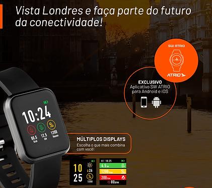 RELÓGIO SMARTWATCH LONDRES ATRIO ANDROID/IOS PRETO