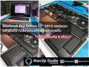 แบตบวม อย่าฝืนใช้ เปลี่ยนแบตใหม่ดีกว่า ปลอดภัยกว่า Macbook Pro Retina 13นิ้ว ปี 2013 แบตบวม ทางร้านได้ทำการเปลี่ยนแบตใหม่ให้เรียบร้อยคับ (แบตมีประกัน 6 เดือน) MacUp Studio ศูนย์ซ่อมผลิตภัณฑ์แอปเปิ้ล ติดต่อเรา MacUp Studio ได้ทั้ง 2 สาขา สาขาขอนแก่น line : @macup = http://bit.do/linemacup โทร : 0956565090 . สาขากรุงเทพ inbox :m.me/MacUpStudioBangkok line : @macupbkk = http://bit.do/linemacupbkk โทร : 0909647666 MacUp Studio ศูนย์ซ่อมผลิตภัณฑ์แอปเปิ้ล ประสบการณ์ซ่อมมากกว่า 20 ปี ซ่อมถูกกว่า ซ่อมดีมีมาตรฐาน ซ่อมด่วน รอรับได้ มีความรู้ความชำนาญงานระดับอาจารย์สอนซ่อม เครื่องมือซ่อมทันสมัย บริการมาตรฐานสากล ตรวจเช็คทุกอาการ ฟรี!!!แจ้งราคาก่อนซ่อม