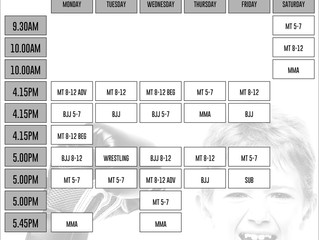 2017 Schedule SeesCoach ReturnAnd NewClasses Added