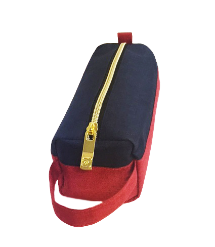 Navy Red Pencil Case