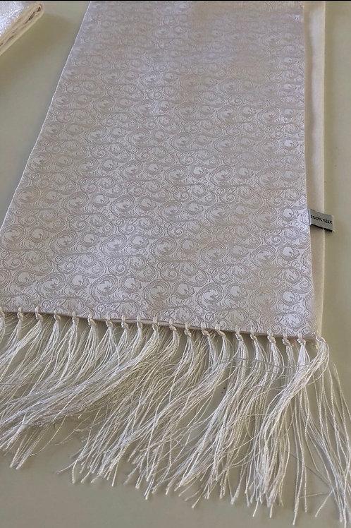 Silk White Scarf #1
